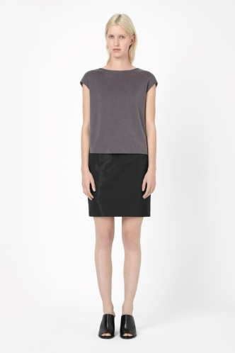 draped back top, dark grey, from COS.
